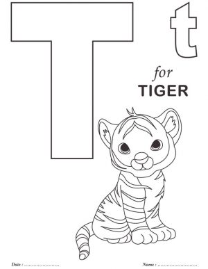 Letter T Coloring Pages Tiger – t85mm