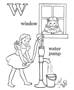 Letter W Coloring Pages Window – l04p2