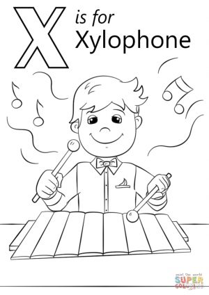 Letter X Coloring Pages – xh4m1