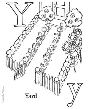 Letter Y Coloring Pages Yard – ywm2