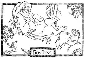 Lion King Coloring Pages Disney – 894a6