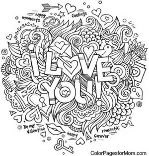 Love Coloring Pages for Adults Free – 16dh5