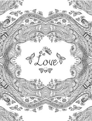 Love Coloring Pages for Adults Printable – 748dm
