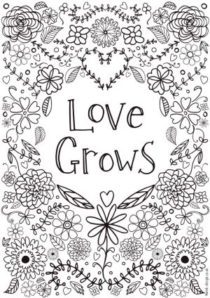 Love Coloring Pages for Adults Printable – 758cb