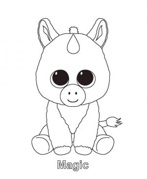 Magic Beanie Boo Coloring Pages ytg2