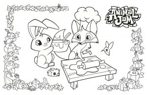 Making Cookies Animal Jam Coloring Pages to Print 2coo