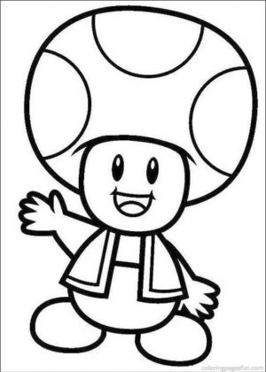 Mario Coloring Pages Toad – 74n81