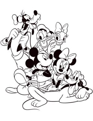 Mickey Mouse Clubhouse Coloring Pages Printable for Kids – nng85l