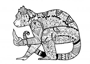 Monkey Coloring Pages for Adults – 39041
