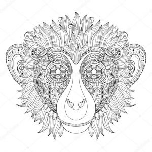 Monkey Coloring Pages for Adults – 90317