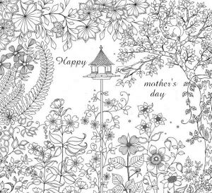 Mother's Day Coloring Pages for Adults Printable – 00319
