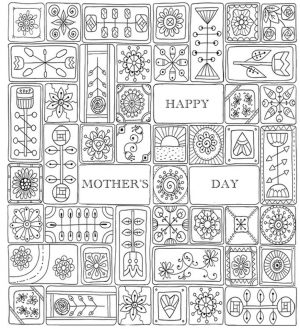 Mother's Day Coloring Pages for Adults Printable – 44921