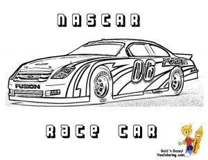 Nascar racing car coloring pages for boys – 36729