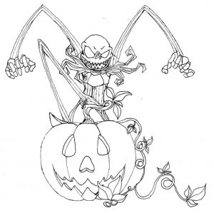 Nightmare Before Christmas Coloring Pages Free vgb2