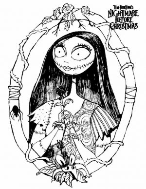 Nightmare Before Christmas Coloring Pages Printable xdc0