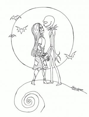 Nightmare Before Christmas Coloring Pages for Grown Ups 2wsx