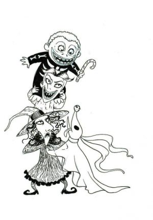 Nightmare Before Christmas Coloring Pages to Print 5nbv