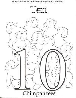 Number 10 Coloring Page – 10n10