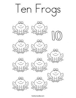 Number 10 Coloring Page – 10v10
