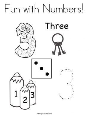 Number 3 Coloring Page – 364n3