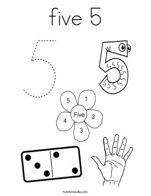 Number 5 Coloring Page – 5hd51