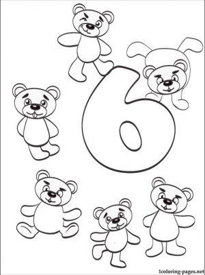 Number 6 Coloring Page – 686s6