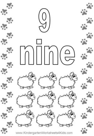 Number 9 Coloring Page – 9s949