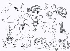 Ocean Coloring Pages for Preschoolers – dc381