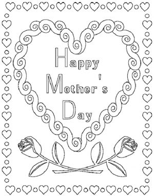 Online Printable Mother's Day Coloring Pages for Adults – 07021