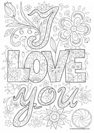 Online Printable Mother's Day Coloring Pages for Adults – 56031