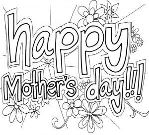 Online Printable Mother's Day Coloring Pages for Adults – 97021