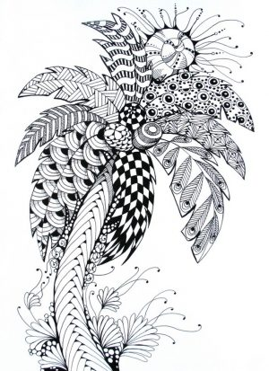 Online Summer Printable Coloring Pages for Adults – 62101