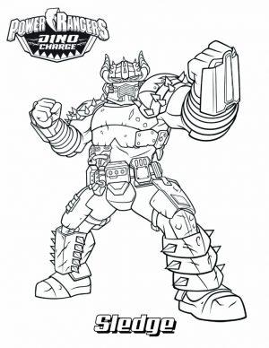 Power Ranger Dino Force Coloring Pages for Kids – 35179