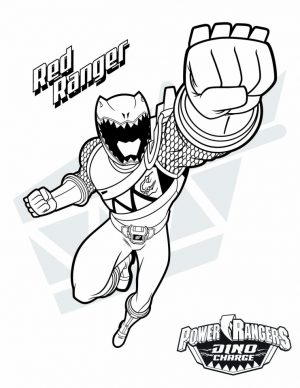 Power Ranger Dino Force Coloring Pages for Kids – 56731