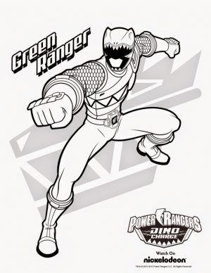 Power Ranger Dino Force Coloring Pages for Kids – 58931
