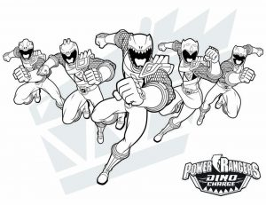 Power Ranger Dino Force Coloring Pages for Kids – 74820