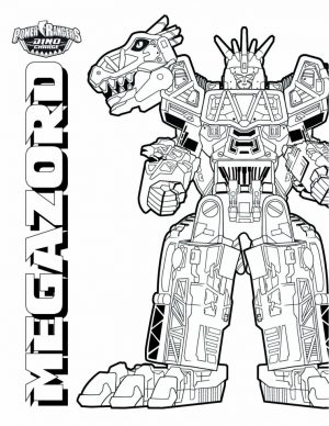 Power Ranger Dino Force Coloring Pages for Kids – 89121