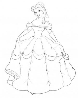 Princess Belle Girls Coloring Pages to Print Online – 25370