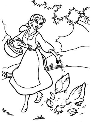 Princess Belle Girls Coloring Pages to Print Online – 67342