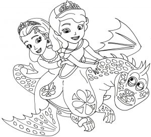 Princess Sofia the First Coloring Pages to Print Out for Girls – 27469