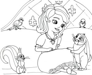 Princess Sofia the First Coloring Pages to Print Out for Girls – 78201