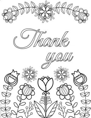 Printable Adult Coloring Pages Quotes Thank You