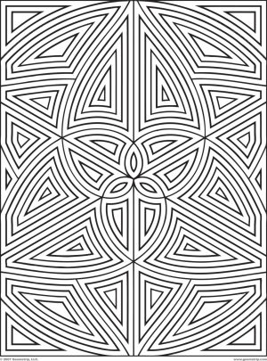 Printable Geometric Coloring Pages for Adults – 34175