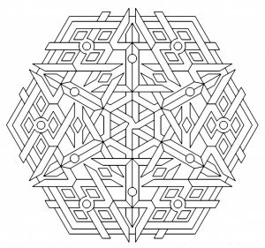 Printable Geometric Coloring Pages for Adults – 57132