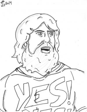Printable wwe coloring pages daniel bryan – 32901