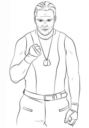 Printable wwe coloring pages dean ambrose – 31850