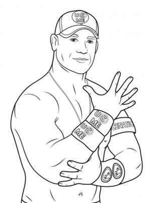 Printable wwe coloring pages john cena – 31902
