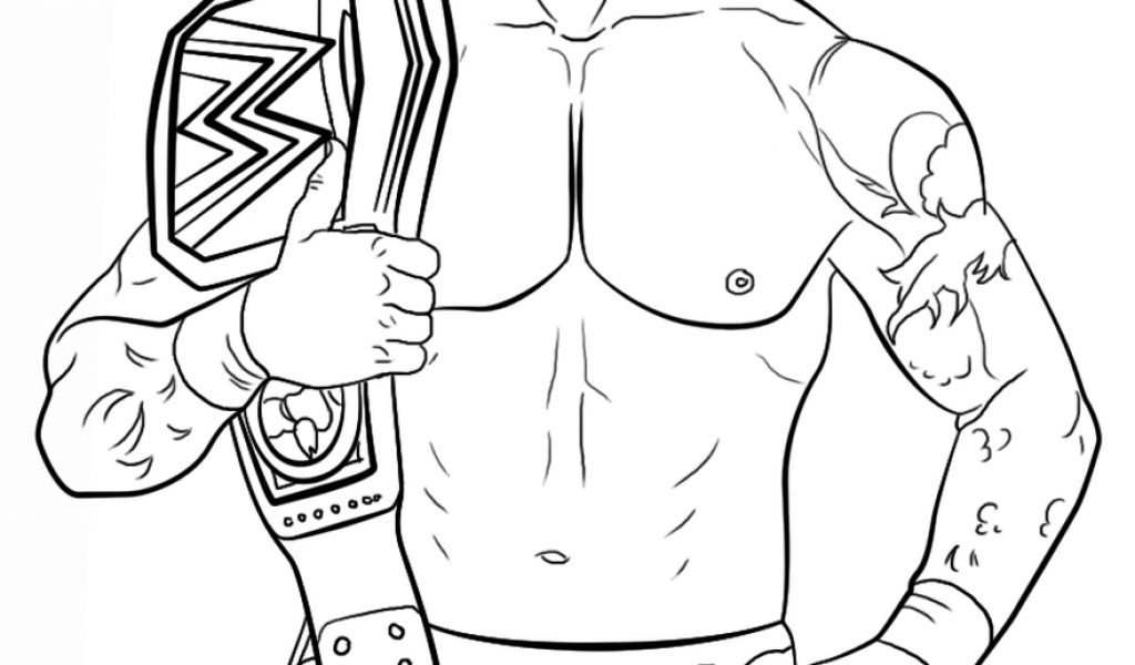 wwe coloring pages to print - wwe belt free colouring pages