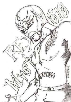 Printable wwe coloring pages rey mysterio – 41902