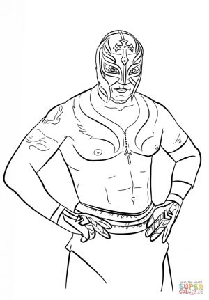 Printable wwe coloring pages rey mysterio – 77116